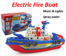 electric fire boat model aircraft carrier warship electric toy boat offshore battleship toys gift for children can Sail in water(China)