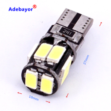 1X Car Auto LED T10 canbus led 194 W5W Canbus 6smd 5630 5730 LED Light Bulb No error led car styling light white(China)