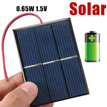 0.65W 1.5V Mini Solar Power Cell Charger Panel DIY Solar Cells With Wire Cable