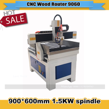 3D Wood CNC Router 6090/9060 3 Axis 1.5KW Spindle Support Type3 Software and T-slot table CNC Woodworking Carving Machine(China)
