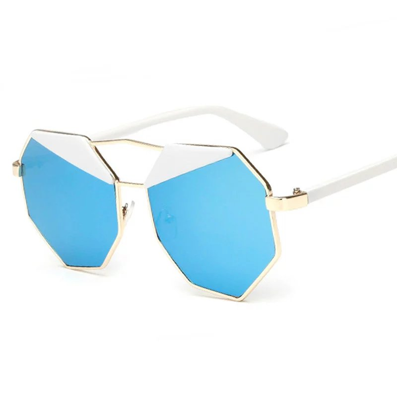 Fashion Polarized Oversize Women Hexagon Sunglasses Brand Designer Summer Style Black Eyebrow Mirror Lens Shades UV400<br><br>Aliexpress