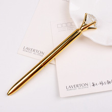 2016 Korea Fashion Large Diamond Crystal Ballpoint Pen for Wedding Birthday Festival Company Advertising Star Roller Ball Pens(China)
