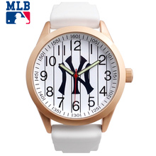 MLB Original NY Times Square Series Fashion Rose Gold Sport Men Women Large Dial Quartz Watch Silicone Waterproof 30m For Lover(China)