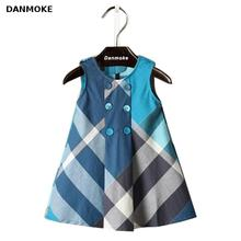 Danmoke Girls Dress Summer Dresses For Girls Children Kids Clothing Classical Cotton Baby Girls Brand Dresses Kids Cute 2-6Y