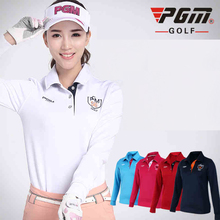 Brand PGM Fit long Sleeve Polo Shirt, Women Long-sleeve Sexy Sports Apparel. Women Workout Polo Shirt, Fitness Gym Sport Dri-Fit
