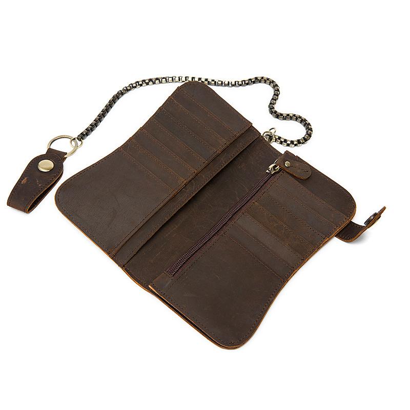 chain leather men wallets (12)