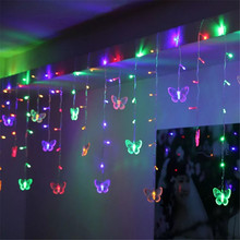 christmas lights outdoor decoration 3.5m droop Butterfly ornaments icicle string lights new year wedding party garland light