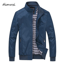 DIMUSI 2017 Spring Autumn Men Jacket Male Overcoat Casual Solid Jacket Slim Fit Stand Collar Zipper Men Jackets Coat 6XL,YA626