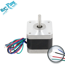 Nema 42 Stepper Motor 42BYGHW609 1.7A For CNC XYZ 4-Lead Parts Laser Grind Foam Plasma 3D Printer Part Accessory with Cable 4pin(China)