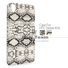 Fashion Case for HTC Desire 816 Phone Cover Snake Pattern Protective Shell for HTC Desire 816 Dual SIM A5 Black White Cell Phone(China)