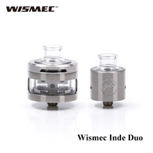 original Wismec Inde Duo atomizer a good choice for DIY fans with its rebuildable heating coils(China)