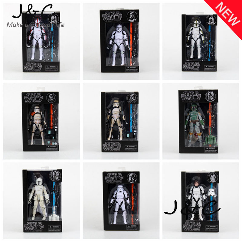 Star Wars Action Figures The Black Series Stormtrooper Clone Trooper Hab Solo BOBA FETT PVC Action Figure Model Toy 9 Styles<br><br>Aliexpress