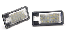 2 PIECES  LED Number License Plate Lights Lamp FOR AUDI A3/S3 04~08; S6 05~08 A3 Cabriolet 08~09 A4 /S4 B6(8E/8H) 01~05 A6 /C6