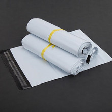 10PCS/LOT 38*52CM White Self-seal Adhesive Courier bags Plastic Poly Envelope Postal Shipping Mailing Bags(China)