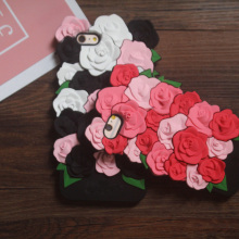 3D Cute Rose Cell Phone Soft Silicone Back Case Cover Shell For Apple iPhone 5/5s/5C/6S /6 Plus/6S Plus /7/7 Plus/SE/8/8Plus/X(China)