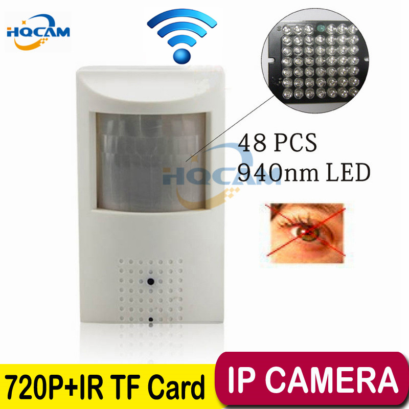 HQCAM TF SD card Camera 720P Wifi Night vision camera Mini IP Camera Security Camera Indoor P2P Security CCTV support TF SD card<br>