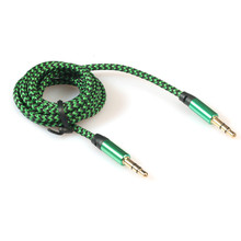 Malloom 2017 1M 3.5mm Stereo Car AUX Auxiliary Cord Jack Audio Cable Male To Male for Mobile Phone MP3 Music Player