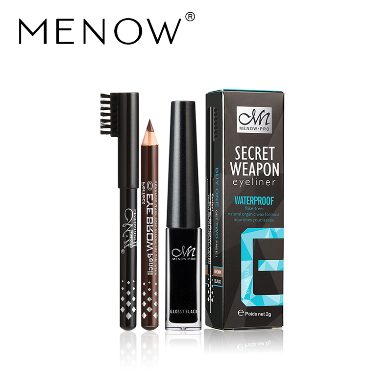 MENOW-Brand-Waterproof-Liquid-Eyeliner-gift-black-and-brown-pencil-Long-lasting-for-up-to-24