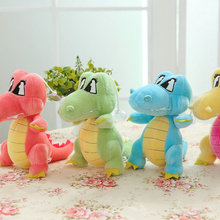 18cm free shipping lovely Dinosaur doll PP Cotton stuffed Sucker plush toys Dinosaur kids toys baby toys Wedding gift