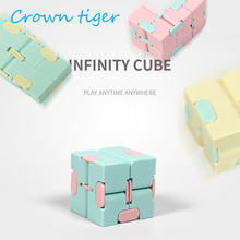 Fashion Infinity Cube 2plastic candy color Fidget Cube toy AntiStress cube Magic cube mini fidget Finger spinner Hand Adult ADHD(China)
