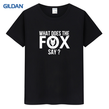 T shirt ylvis what does the fox say tee shirt design websites red and white striped t-shirt(China)