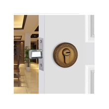 Modern simple stealth door lock Zinc alloy atresia invisible yellow bronze indoor lock Double lock background wall contact locks