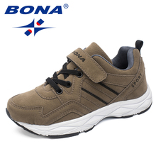 BONA New Classics Style Children Shoes Boys Sneakers Outdoor Jogging Hook & Loop Casual Shoes Kids Soft Light Fast Free Shipping