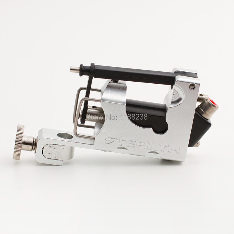 High Quality Electric Tattoo Machine Alloy Stealth 2.0 Rotary Tattoo Machine Liner Shader Silver with Box Set free shipping<br>