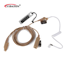 GP328PLUS Beige Flesh Color Covert Acoustic Tube Earpiece Headset Mic for Motorola GP328Plus GP344 GP388 GP688 Two Way Radio