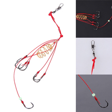 4pcs 6#/8#/10#/12# Explosion Fishing Hooks Pack Tackles with Barb High carbon steel Red Fishing Hook Connector Accessories(China)