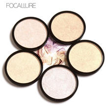 FOCALLURE 5 Colors Illuminator Brightening Face Pressed Highlighter Powder Easy to Wear for Face Shimmer (China)