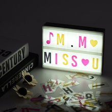 A5 DIY Cinema Light Box LED Cinema Lightbox Message Board LED Cinematic Lightbox for Birthday Wedding Party Store Sign(China)