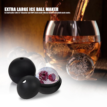 Food-grade Silicone Extra Ice Ball Maker Sphere Reusable Trays Molds Leak Proof Freezer For Whisky Cocktails Wine and More Large
