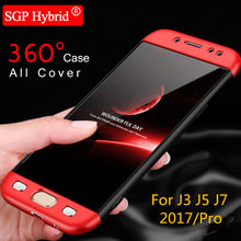 360 All Cover Case For Samsung Galaxy J3 J5 J7 2017 / Pro J330 J530 J730 Protect Cell Phone Bag Front Back Full body Cover Capa(China)