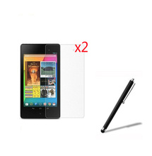 "3in1 2x LCD Clear Screen Protector Films Protective Film Guards +1x Stylus Pen For Google Nexus 7 II 2nd 2gen 2013 7"" Tablet"