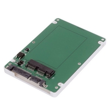 "White Color 7mm Height 1.8"" Micro SATA 16pin SSD to 2.5"" SATA 7+15 22pin Hard Disk Case Enclosure"