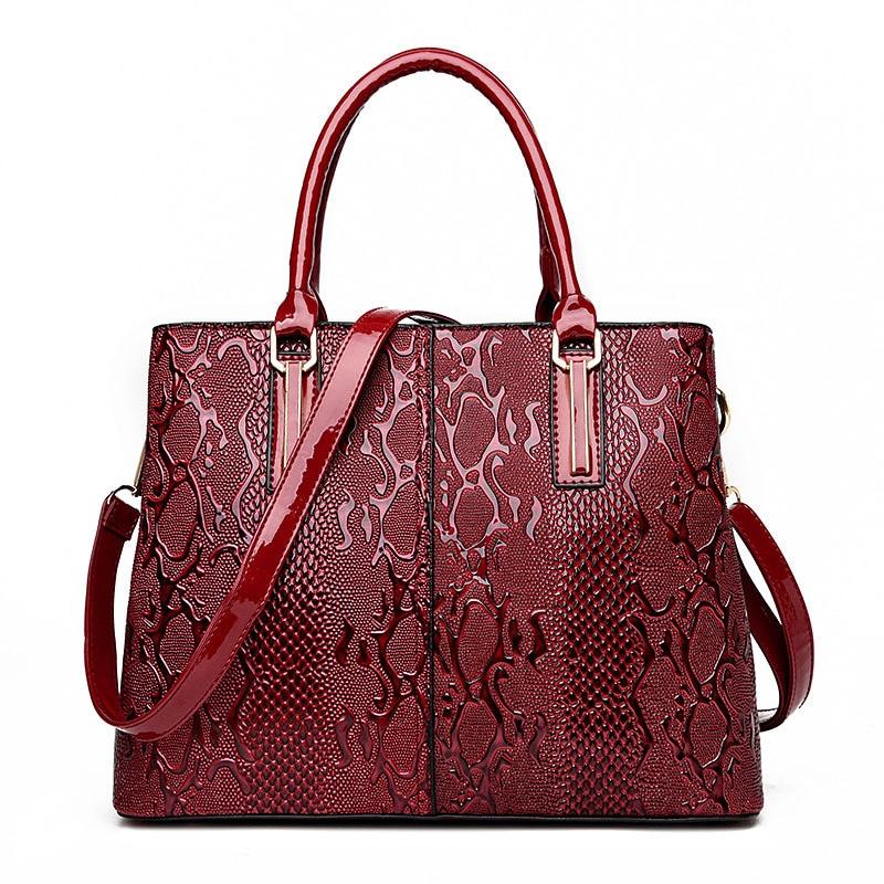 Brand Designer Handbag Women Serpentine Leather Bag Female Hobos Shoulder Bags Large Casual Tote Bag High Quality Bolsas<br>
