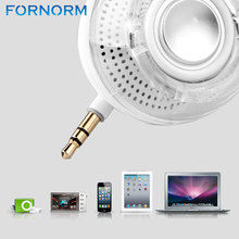 White/Black Mini Portable Speaker 3.5mm Aux Rechargeable Loudspeaker Smartphone speaker for iPhone iPad Samsung etc(China)