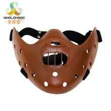 Hot Sale Film Movie The Silence of The Lambs Hannibal Lecter Mask Masquerade Halloween Cosplay Dancing Party Mask