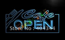 LB011- OPEN Cafe NR Restaurant Business LED Neon Light Sign
