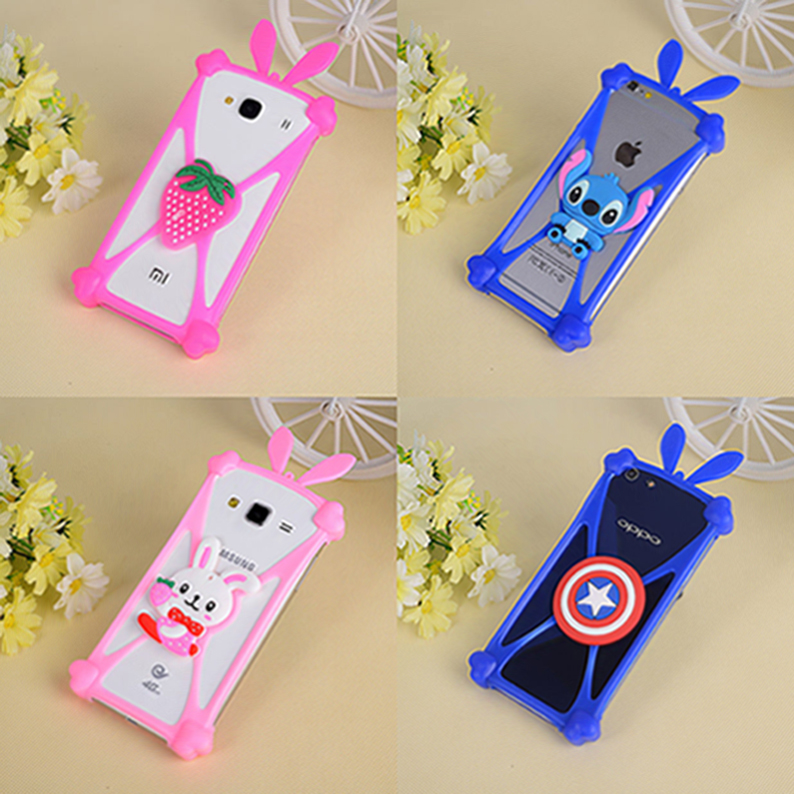 The new fashion Cute Cartoon Silicone Universal Cell Phone Holster Cases Fundas For Apple Ipod Touch 6 Case Silicon Coque Cover(China (Mainland))