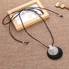 Buy vintage woman Necklaces jewelry statement necklaces pendants wooden pendant collares mujer choker necklace women Long Necklace for $1.50 in AliExpress store
