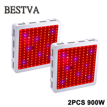 2PCS USA/DE/AU/UK Stock 3year Warranty  Bestva 900W Powerful Full Spectrum,IR,UV LED grow light for Medical Flower &Veg Plants
