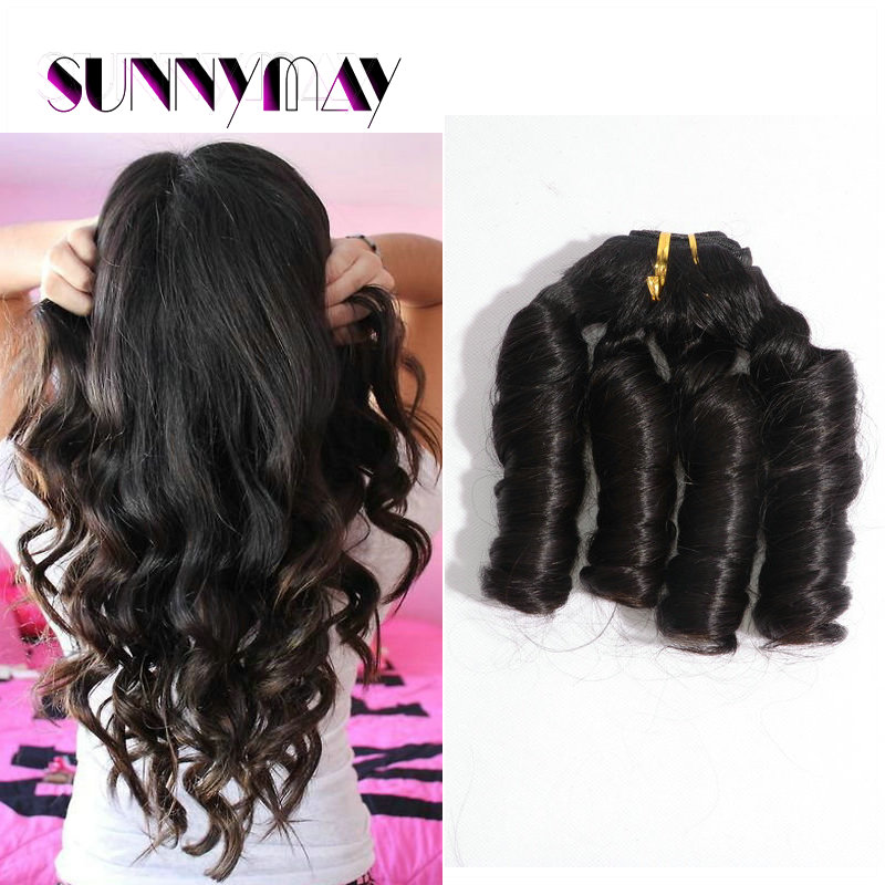 Sunnymay Peruvian Funmi Egg Virgin Hair 3pcs 300g Lot Bouncy Curl Hair Weave Bouncy Curly Hair Bundles8-30Inch Romance Hair Weft<br><br>Aliexpress