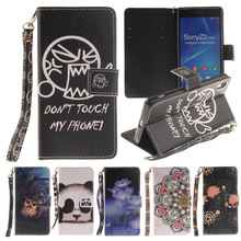 For Coque Sony Xperia Z2 Case Silicone + Leather Wallet Phone Case Sony Xperia Z2 Cover Flip Case For Sony Z2 Cellphone Case(China)