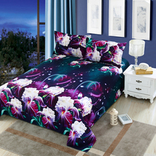 4Pcs/set Bedding Set 3D Flower Plant Print Duvet Cover Comfortable Bed Cover Pillowcase Bedsheet Home Decoration