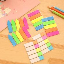 Cute Kawaii PET Memo Pad Notepad Stationery Sticker Fluorescent Post It Sticky Notes Office School Supplies Free Shipping 158