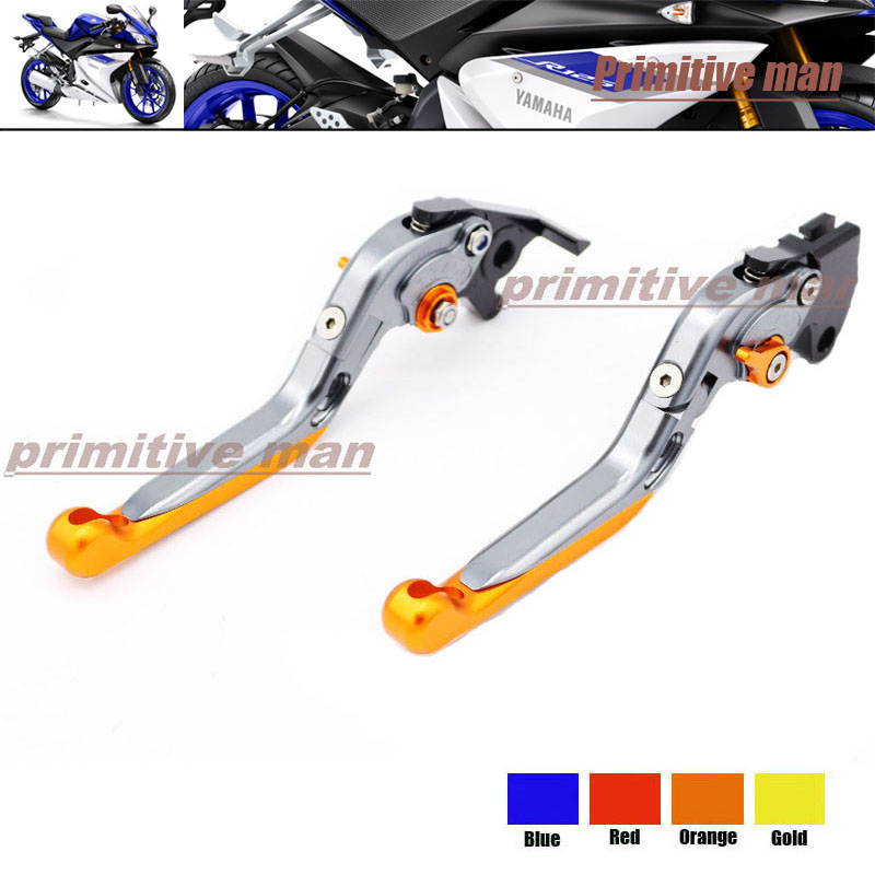 For YAMAHA YZF R125 2014-2015 Motorcycle Accessories Adjustable Folding Extendable Brake Clutch Levers Orange<br><br>Aliexpress