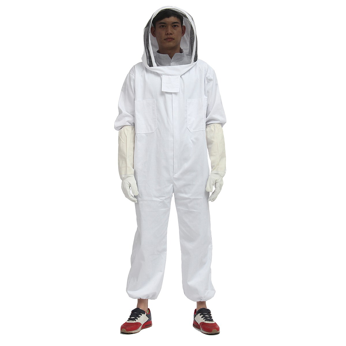 Beekeeper Beekeeping Protective Veil Suit Smock Bee Hat Gloves Full Body Set New Safety Clothing<br>