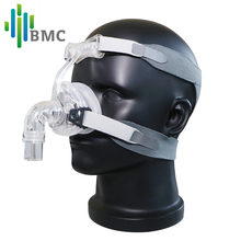 BMC NM2 Nasal Mask With Headgear And Head pad S/M/L Different Size Suitable For CPAP Machine Oxygenerator Connect Hose And Face(China)
